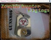 zombie hunter dog tags(walking dead)