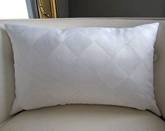 White Harlequin Pillow Cover, 12x18 Lumbar Pillow Cover