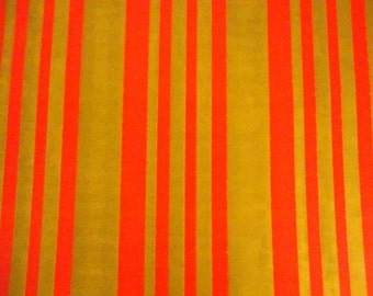 Vintage Christmas Wrapping Paper 1960s Classic Stripes Traditional NOS Red Gold Full Unused Sheet