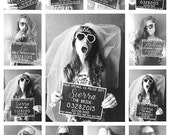PRINTABLE Bachelorette Party Mugshot Signs. Customized with your girls' information, and your ink color!