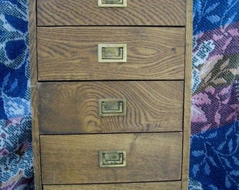 Vintage Wood Chest Drawers Music Box Price Imports Japan