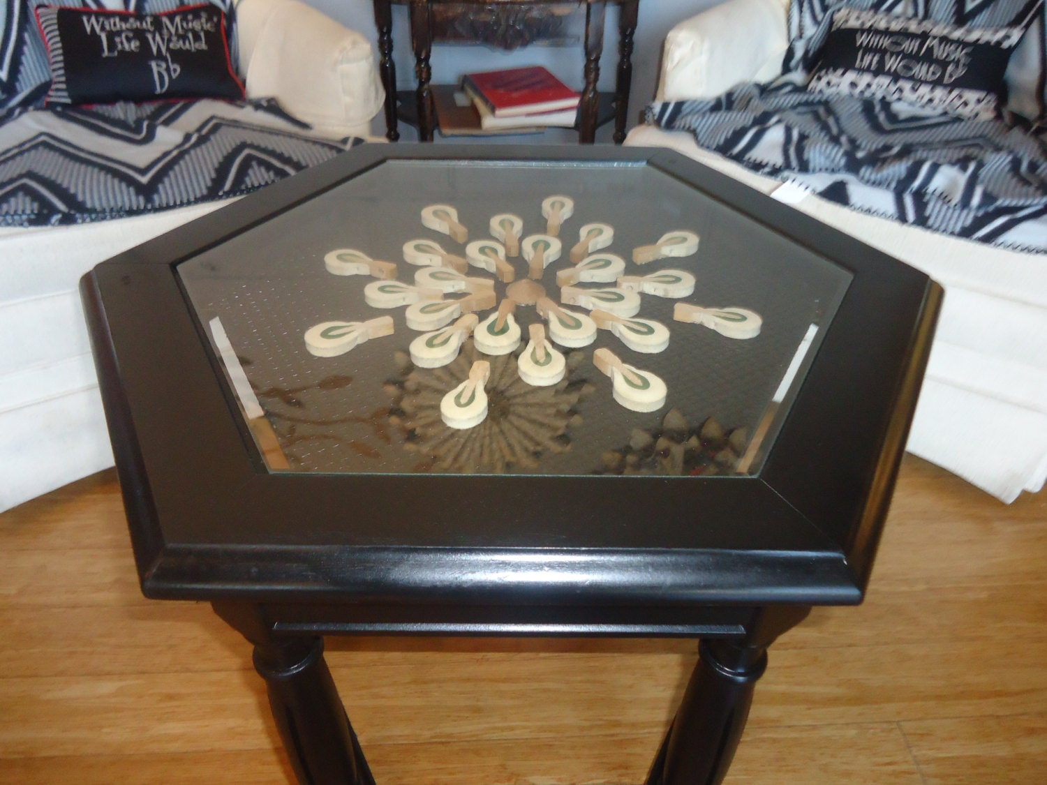 Repurposed Piano Hammer Table