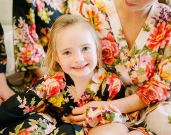 Flower Girl Robe, Junior Bridesmaid robe, Junior robe