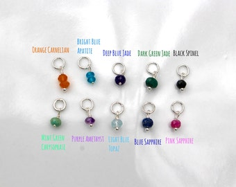 GemStone Drops - Birthstone Charms - Gemstone Charms - Colofurl Stone Drops