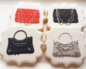 Designer purse cookies