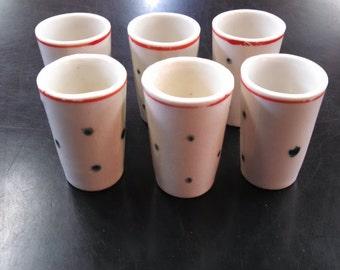 Vintage Set of Six Japan Shot Glasses