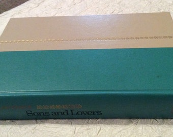 "Vintage Antique Hard Back Book ""Sons and Lovers"" Copyright 1913 by D.H. Lawrence in Great Condition, 105 Year Old Book"