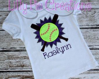 Softball Shirt for Girls, Kids Softball Shirt, Softball Tank Tops, Softball t shirt, Baseball Sister Shirt, Baseball Tank, Made to Order