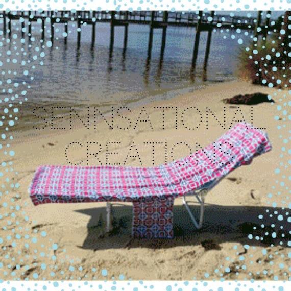 Monogrammed Lounge Chair Cover Beach Chair Cover Beach