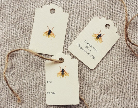 Bee Favor Tags Gift Tags Bee Wedding