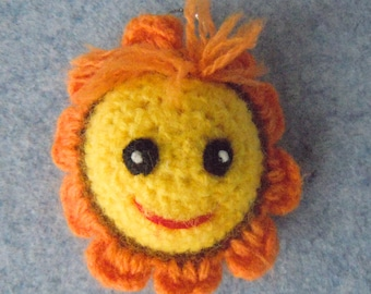 New Handmade Crochet  Sunflower. Hand knitted crocheted toy