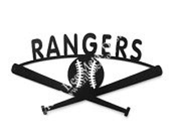 Texas Rangers Baseball Metal Sign
