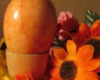 Vintage Alabaster Dreamsicle Orange Egg