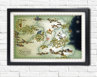 Narnia Map - A1 Poster - ONLY 1 LEFT