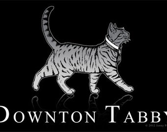 Downton Tabby 4x6 Postcard