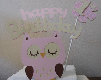 1st Birthday Topper Set - Owl 1st Birthday- 1st Birthday Owl Topper Set