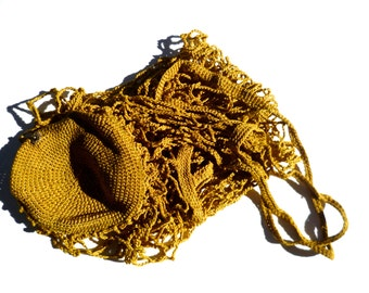 Vintage Handmade Hand Crocheted Bag