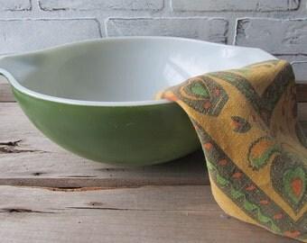 Vintage Green Pyrex Bowl 444 Verde Cinderella 4 Quart Bowl
