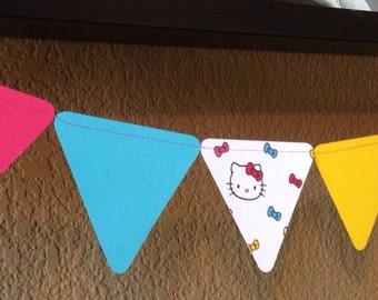 Hello Kitty Party Decorative Garland Bunting Hello kitty party Baby Shower Decorations