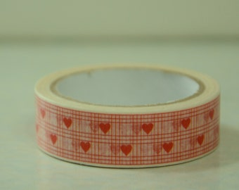 1 Roll of Japanese Washi Masking Paper Tape - Heart