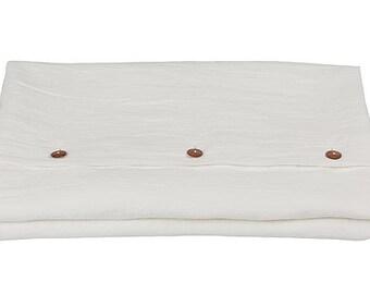 Linen DUVET COVER - white duvet cover - off white duvet cover - white linen bedding - queen duvet cover - king duvet cover - white bed linen