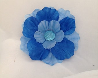 Cool Blue Floral Hair Accessory