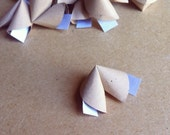 20 paper origami fortune cookies with love quotes - wedding - simple decor - free delivery