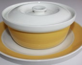 """Retro """"Atria"""" bowl, lid and under plate by Arabia Finland"""