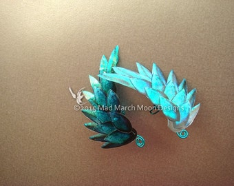 Dragon Scale Wing Ear Cuffs Turquoise