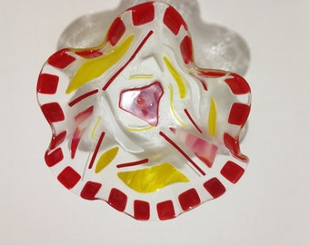 Funky Fused Glass Bowl