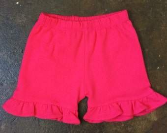 Single Ruffle knit shorts