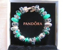 IRISH CHARM...Authentic Pandora Bracelet with European Style Beads...by TLCcharms