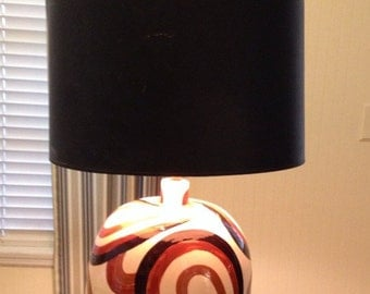 BRUTALIST MID CENTURY Table Lamp Retro Modern Abstract
