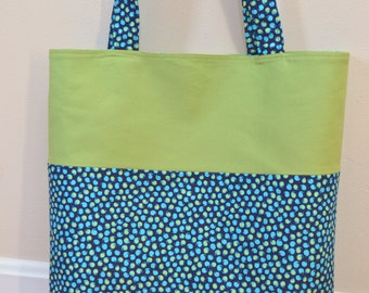 """Amy Butler Fabric Tote-the everything tote  16"""" x 15"""" x 3"""""""