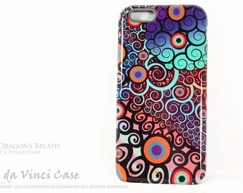 """Colorful Abstract iPhone 6 6s Case - """"Fire Dragons Breath"""" - Artistic iPhone 6 Tough Case"""