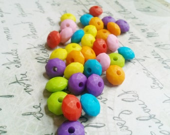 Bulk Beads Wholesale Beads Acrylic Beads Rondelle Beads Assorted Beads 100 pieces Abacus Beads 10x6