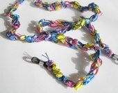 Vibrant Blue, Pink, Yellow Ladder Ribbon Eyeglass Chain