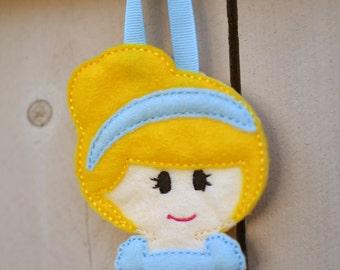 Embroidered Princess Hair Clip Organizer