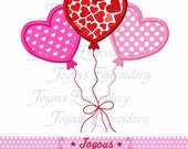 Instant Download Valentine's day Heart Balloon Embroidery Applique Design NO:1668