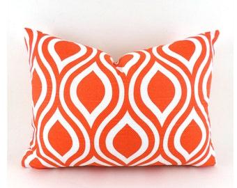 60% CLEARANCE SALE Lumbar Pillow Decorative Pillow Cover Orange Pillow Premier Prints Nicole Tangerine Orange