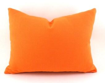 Orange Lumbar Pillow Cover ANY SIZE Decorative Pillow Cover Orange Pillow Premier Prints Solid Orange