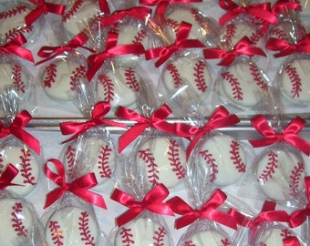 Chocolate covered Football Basketball or Baseball Sports Oreo Chocolate covered Oreo Favors Favors Birthday Party Favors 1 dozem