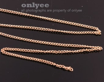 1Meter(1yd)- 1.2mm x0.8mm Bright Gold flat cable chains deilcate fine chains / jewelry making necklaces(N138G)