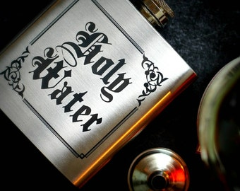Holy Water Hip Flask - Supernatural Inspired - Drinking Flask