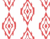Ikat Diamond Fabric by the Yard -  Coral