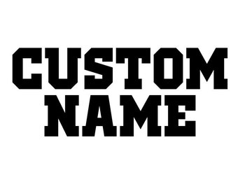 Custom Name upgrade for FRONT of one shirt.