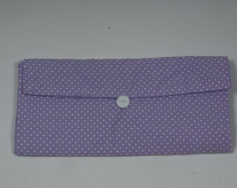Purple Diaper Clutch and Changing Pad