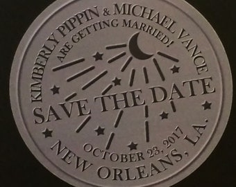 New Orleans Water Meter Save The Date Cards- set of 50