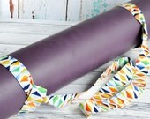 Geometric Yoga Mat Strap - Colorblock Rainbow Yoga Mat Sling Carrier - Cotton Yoga Mat Strap