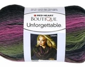 Red Heart Boutique Unforgettable Yarn in Echo Self Striping Roving Yarn